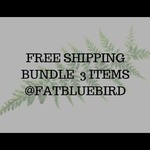 Bundle 3 items and receive FREE shipping ❤️